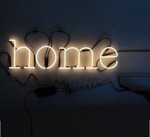 Lampe typographe Néon Art Home de Seletti