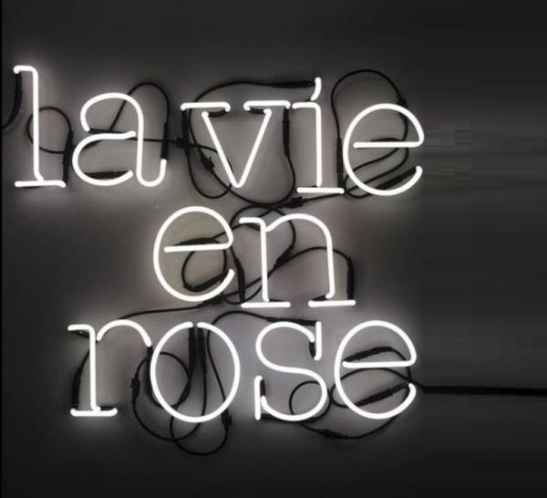 Lampe typographe Néon Art La Vie en Rose de Seletti