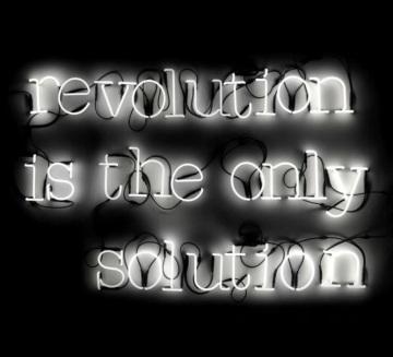 Lampe typographe Néon Art Revolution is the only solution de Seletti
