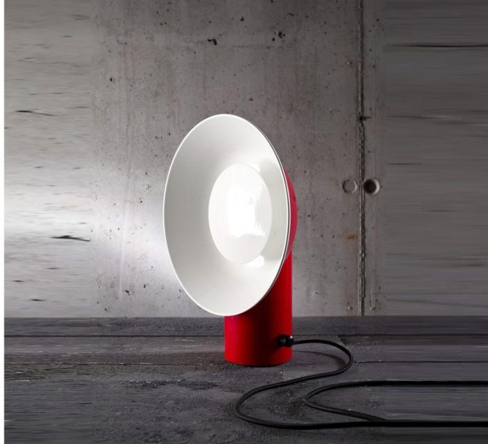 LAMPE À POSER, REVERB, ROUGE, H40CM, L31CM - LED, 3000K, 1940LM - ZAVA