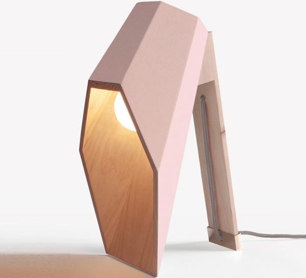 Lampe de bureau rose Woodspot, Seletti