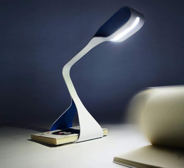 Lampe bleu Libra, Zava