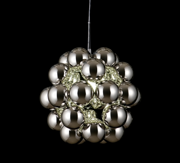 Suspension, Beads Penta, chrome, Ø54cm - Innermost
