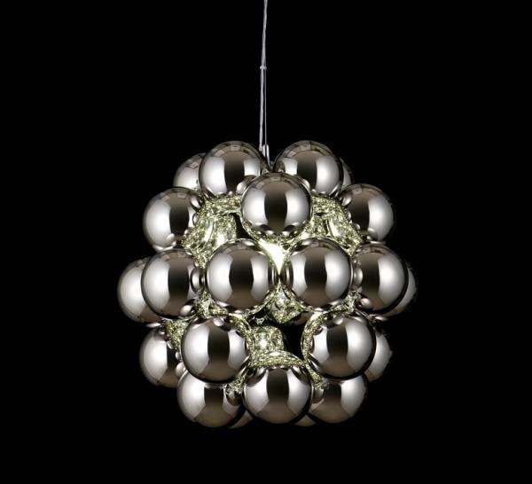 Suspension, Beads Penta, chrome, Ø54cm - Innermost