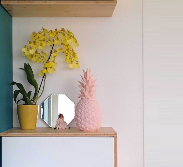 LAMPE, ANANAS, PINA COLADA, ROSE PASTEL, H32CM - GOODNIGHT LIGHT