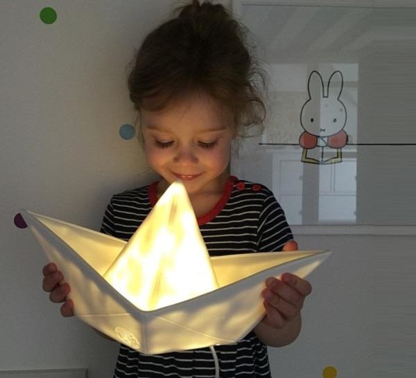 LAMPE ENFANT, VEILLEUSE, BATEAU, BLANC, L32CM - GOODNIGHT LIGHT