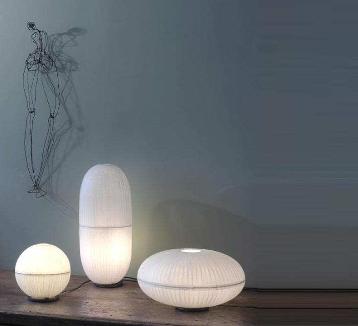 LAMPE À POSER, CRISTAL B, BLANC, H20CM - CELINE-WRIGHT