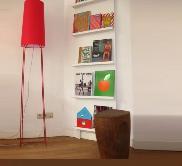Lampadaire, Slimsophie, rouge, H176cm - Fraumaier