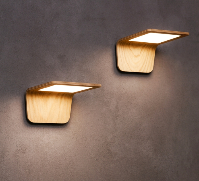 APPLIQUE MURALE LED, BUTTERFLY, CHÊNE, L17,5CM - TUNTO