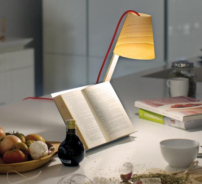 LAMPE À POSER, ASTERISCO, BOIS NATUREL D'HÊTRE, H43CM - LZF