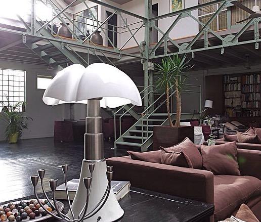 Lampe à poser, PIPISTRELLO, LED, blanc, H86cm - Martinelli-luce