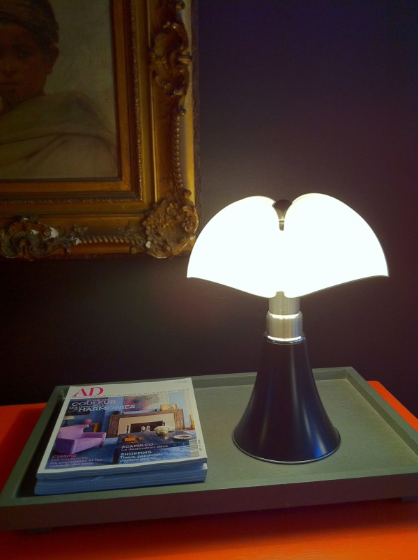 LAMPE À POSER, MINIPIPISTRELLO TACTILE, LED, MARRON, H35CM - MARTINELLI-LUCE