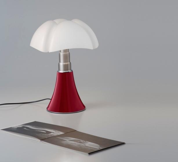 LAMPE À POSER, MINI PIPISTRELLO, LED, ROUGE, H35CM - MARTINELLI-LUCE