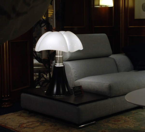 LAMPE À POSER, PIPISTRELLO, NOIR, BRILLANT, H86CM - MARTINELLI-LUCE
