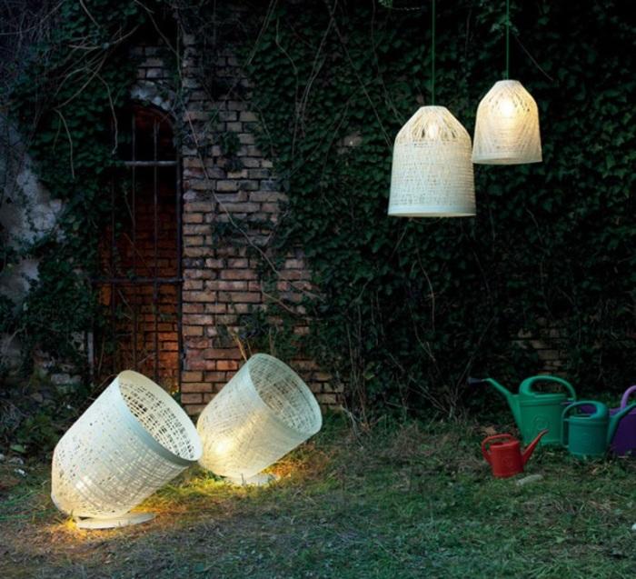 LAMPE À POSER D'EXTÉRIEUR, BLACK OUT, BLANC, Ø70CM - KARMAN