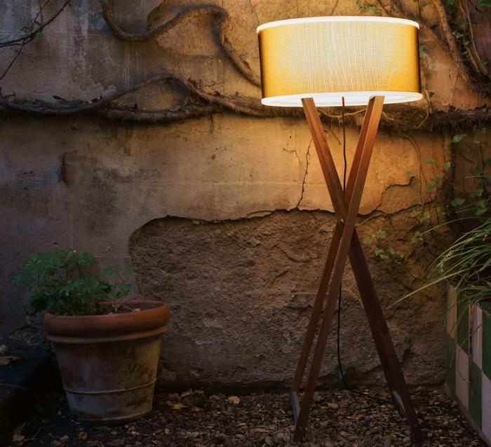 LAMPADAIRE D'EXTÉRIEUR, CALA, BOIS, MARRON, H140CM - MARSET