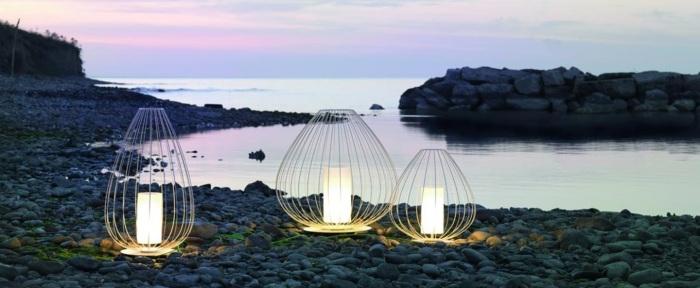 LAMPE À POSER D'EXTÉRIEUR, CELL, BLANC, Ø90CM - KARMAN