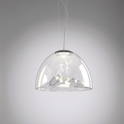 Lustre montagne, Mountain View, cristal, chrome, Ø55cm, DIma Loginoff - Axo Light