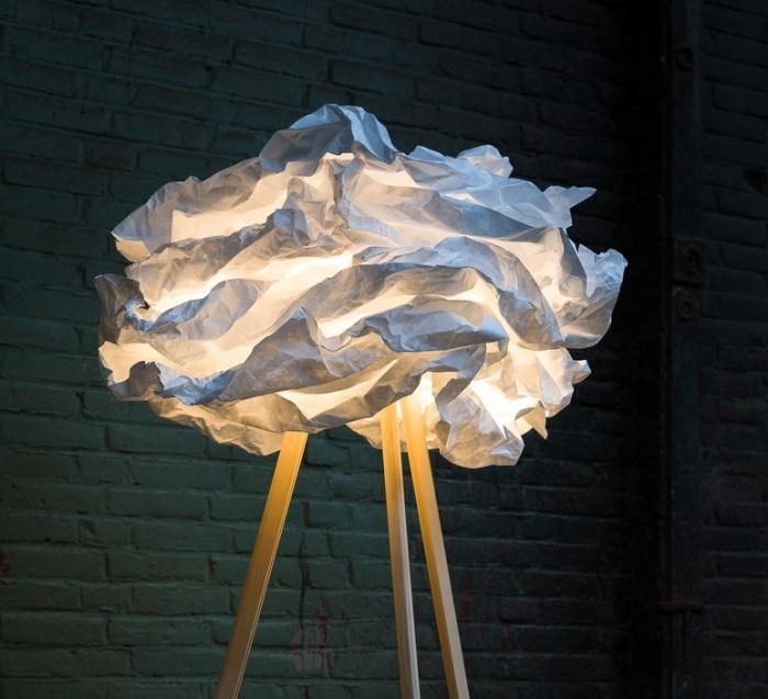 LAMPADAIRE, CLOUD-NUAGE, BLANC, H159CM, Ø90CM - PROPLAMP