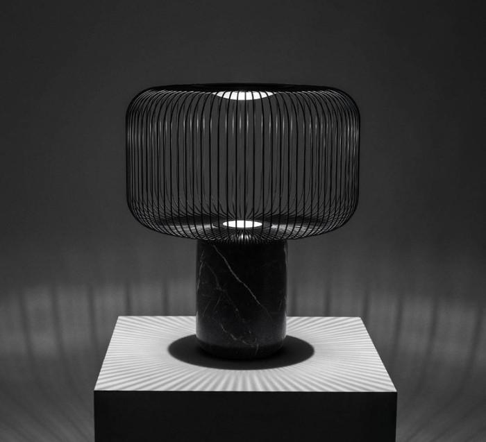 LAMPE À POSER, KESHI, NOIR, Ø50CM - B-LUX