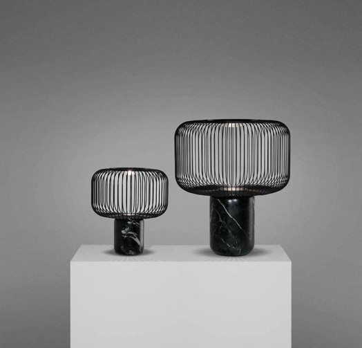 LAMPE À POSER, KESHI, NOIR, H35CM - B-LUX