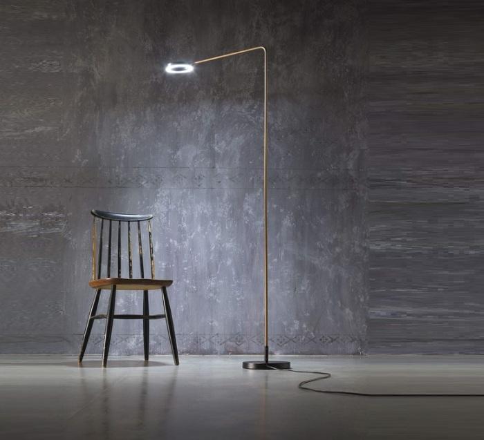 LAMPADAIRE, META, LAITON, H172,5CM - LED - ZAVA