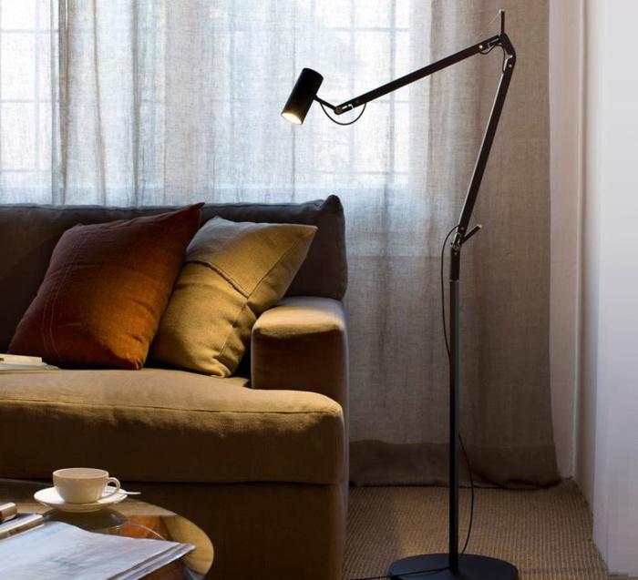 LAMPADAIRE D'ARCHITECTE, POLO, NOIR, LED, H120CM - MARSET