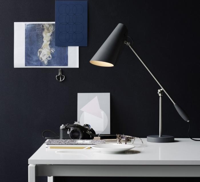 LAMPE À POSER, BIRDY, GRIS MAT, CHROME, H43CM - NORTHERN