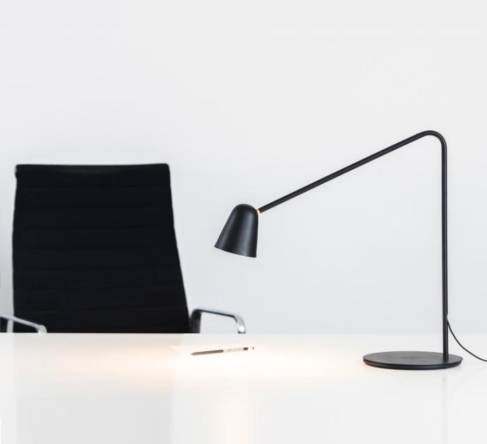 LAMPE À POSER, CHAPLIN, NOIR, L60CM - FORMAGENDA
