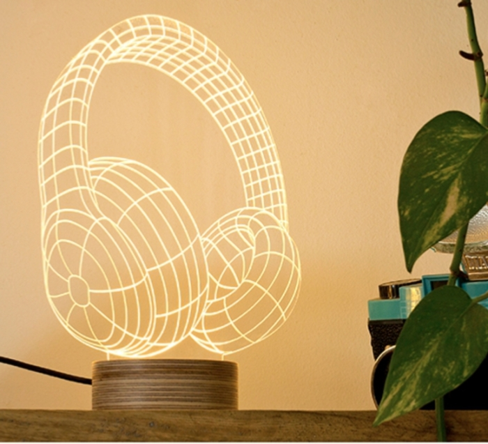 Lampe à poser, HEADPHONES, LED, H23cm - STUDIO CHEHA