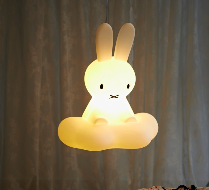 SUSPENSION, MIFFY PLAFONNIER, BLANC, H53CM - MR MARIA
