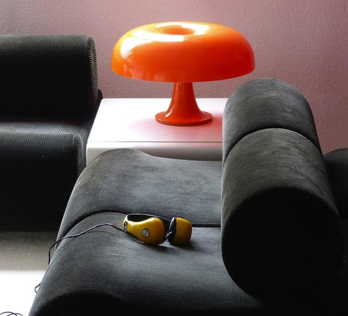 Lampe à poser, Nesso, orange, Ø54cm, H34cm - Artemide