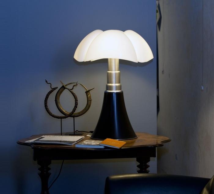 Lampe à poser, PIPISTRELLO, LED, à variation, noir brillant, H86cm - Martinelli-luce