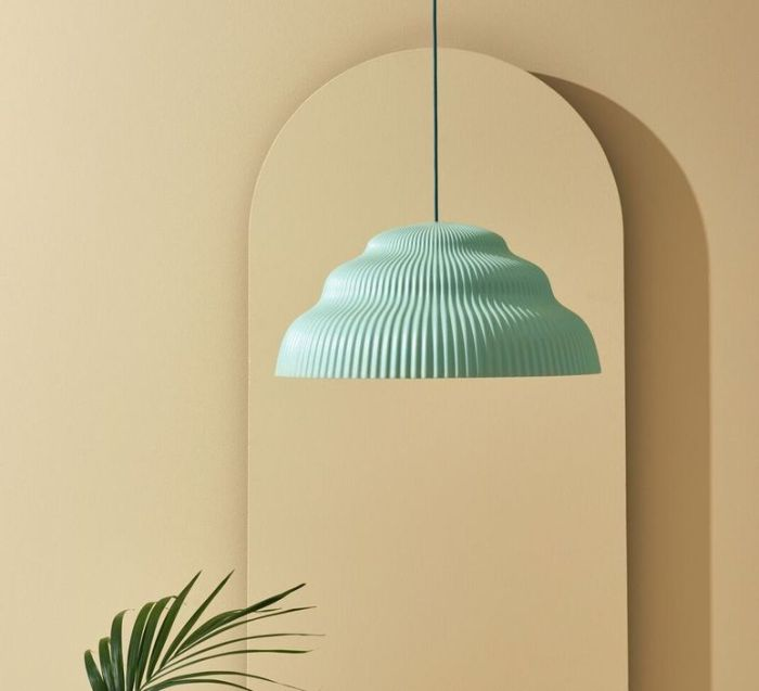 SUSPENSION, KASKAD LIGHTING BIG, MENTHE , H27CM Ø57CM - SCHNEID