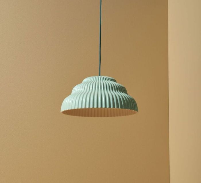 SUSPENSION, KASKAD LIGHTING SMALL , MENTHE , H17CM Ø36CM - SCHNEID