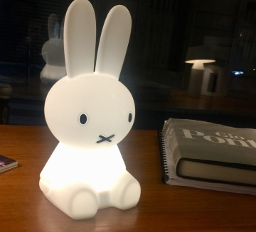 LAMPE, VEILLEUSE, LAPIN, MIFFY - MY FIRST LIGHT, BLANC, LED, Ø15CM, H30CM - MR MARIA