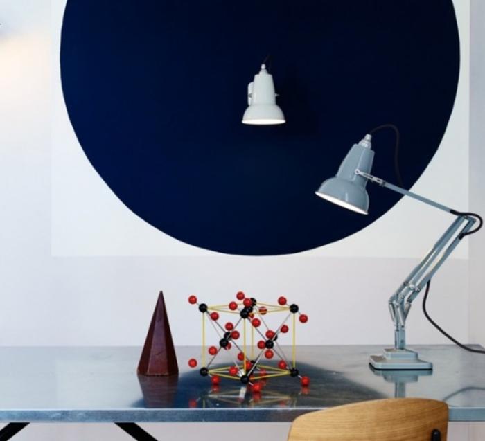 Lampe de bureau, Original 1227 Mini, gris clair, H48cm - ANGLEPOISE