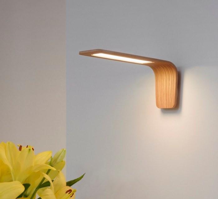 Applique murale LED, Butterfly, chêne, L18cm - TUNTO