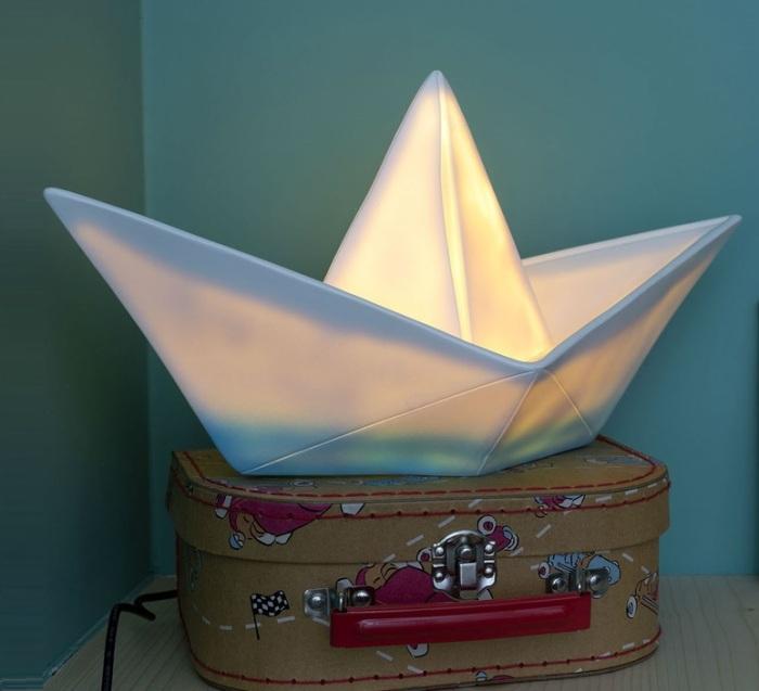 Lampe enfant, veilleuse, bateau, bleu, L32cm - Goodnight Light