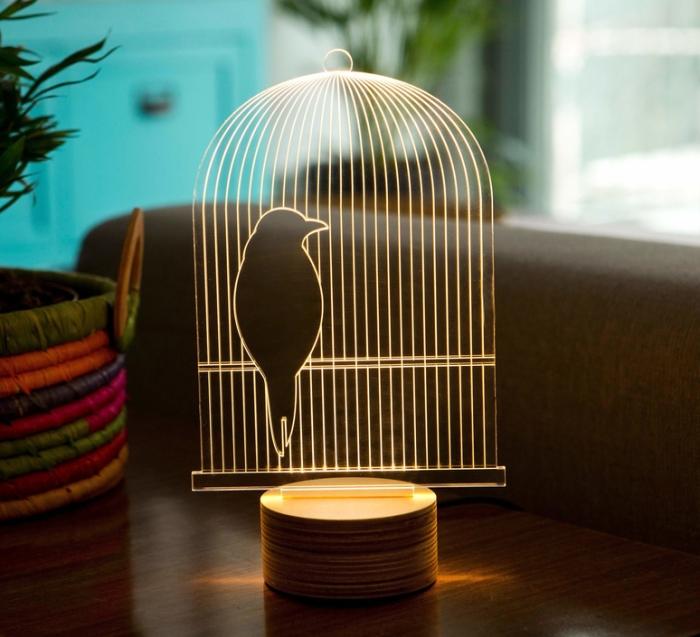 LAMPE À POSER, BIRD, BLANC, L15CM, H23CM - STUDIO CHEHA