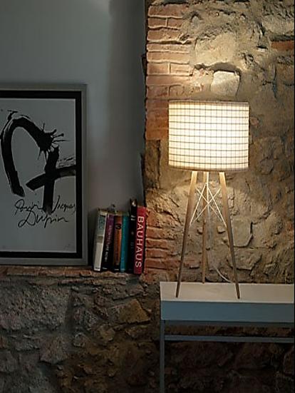 LAMPE À POSER, WIRE LIGHT, BLANC, CHÊNE, H57CM - B-LUX