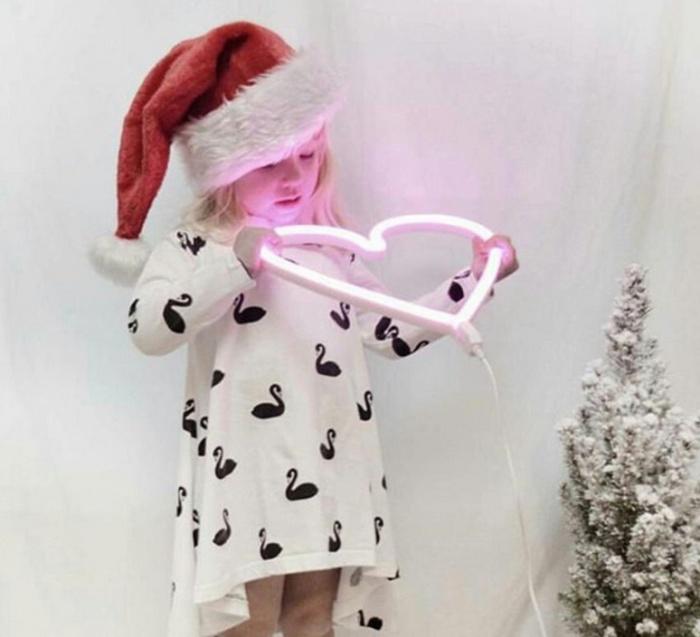 Applique Neon Art, coeur, Alittlelovelycompany