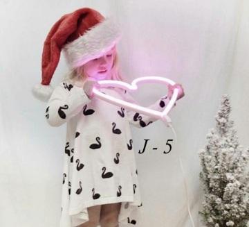 Applique, Neon Heart, rose, H30cm - A Little Lovely Company