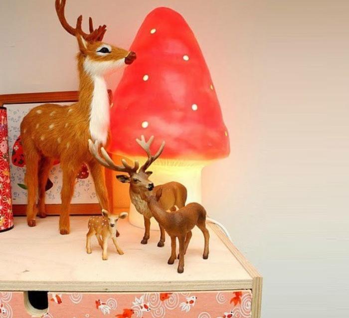 Lampe, Veilleuse, Petit Champignon, rouge, H28cm - Egmont-Toys