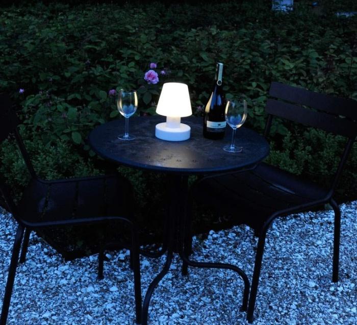Lampe d'extérieur, sans fil, solaire, blanc, H20cm - BLOOM-HOLLAND