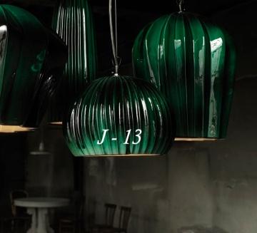 Suspension, SAHARA, vert & blanc, Ø23cm, H17cm - KARMAN