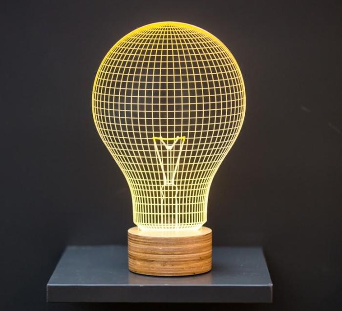 LAMPE À POSER, YELLOW BULB, JAUNE, L15CM, H23CM - STUDIO CHEHA