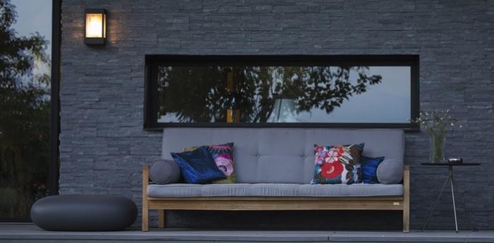 Applique murale d'extérieur, Brick, gris anthracite, H30,3cm, L17cm - Roger Pradier