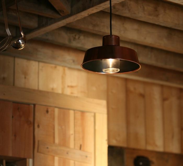 Suspension, Faktory 2, cuivre vernis, H50cm, L34,6cm - Roger Pradier