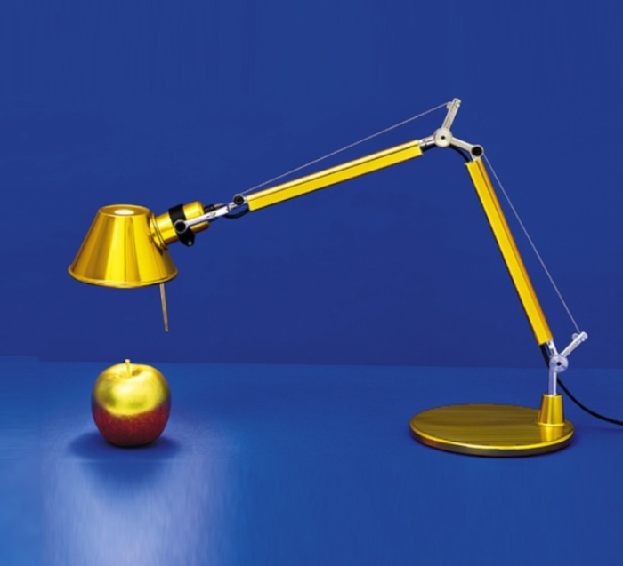 Lampe à poser, Tolomeo Tavolo Micro, or, H73cm, L69cm - Artemide
